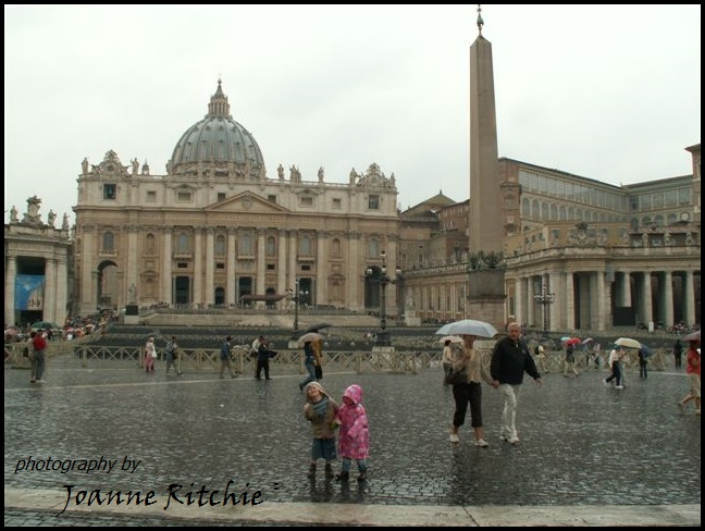 A soggy time at the Vatican
