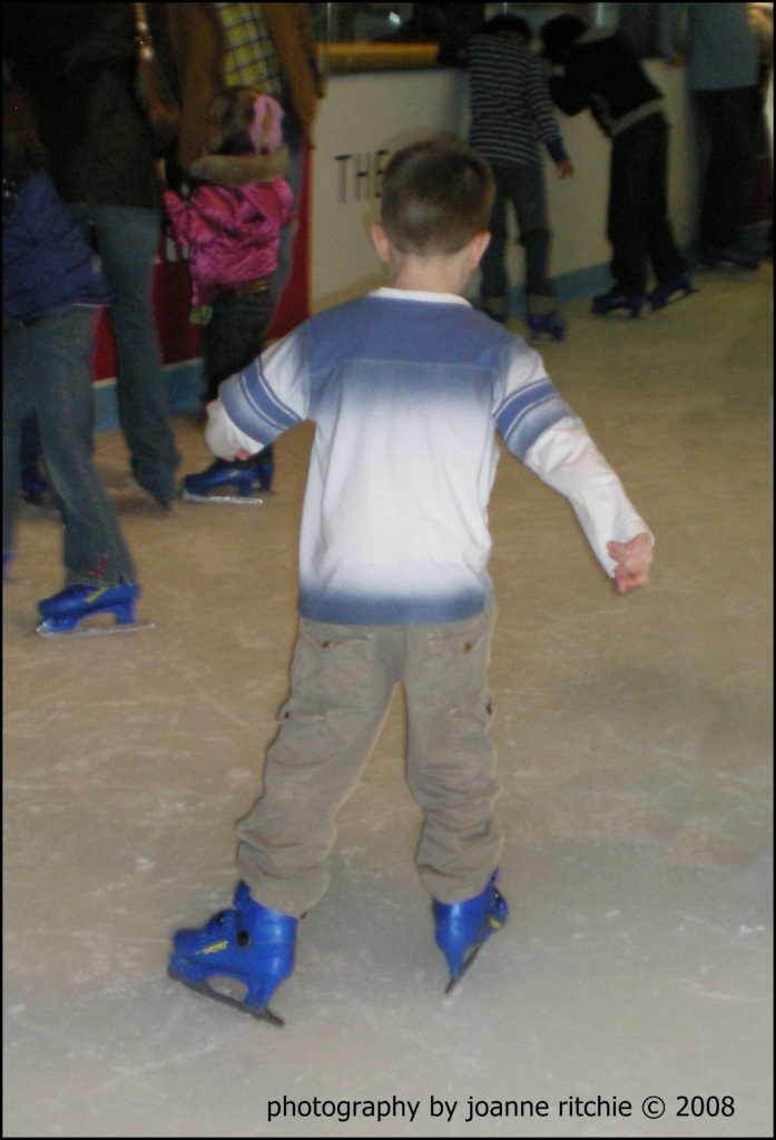 HLR ice skating for the first time