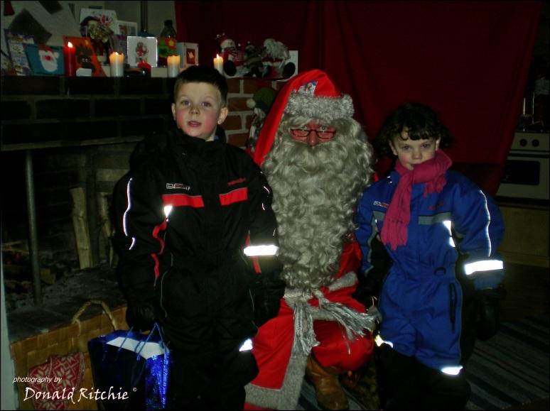 Meeting Santa in Lapland