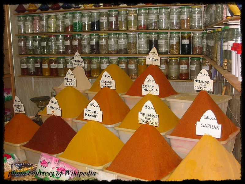 Morocco Spices courtesy of Wiki