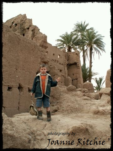 Young Sir outside a 16th Century Kasbah
