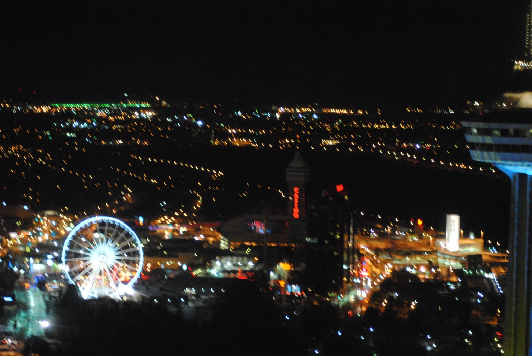 Niagara at Night from our Room!