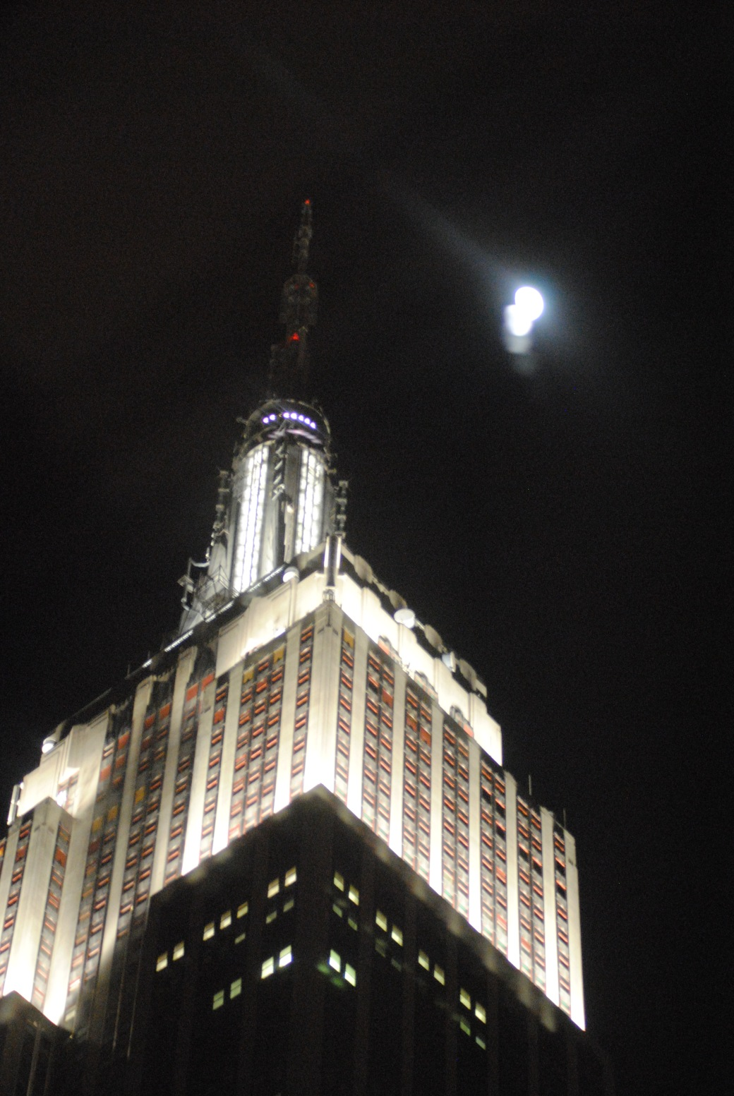 Empire State Building by moonlight... beautiful!