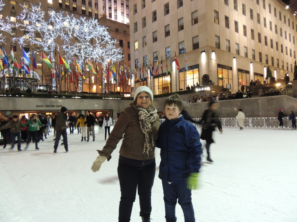 I'm skating on Rockefeller Center!!!