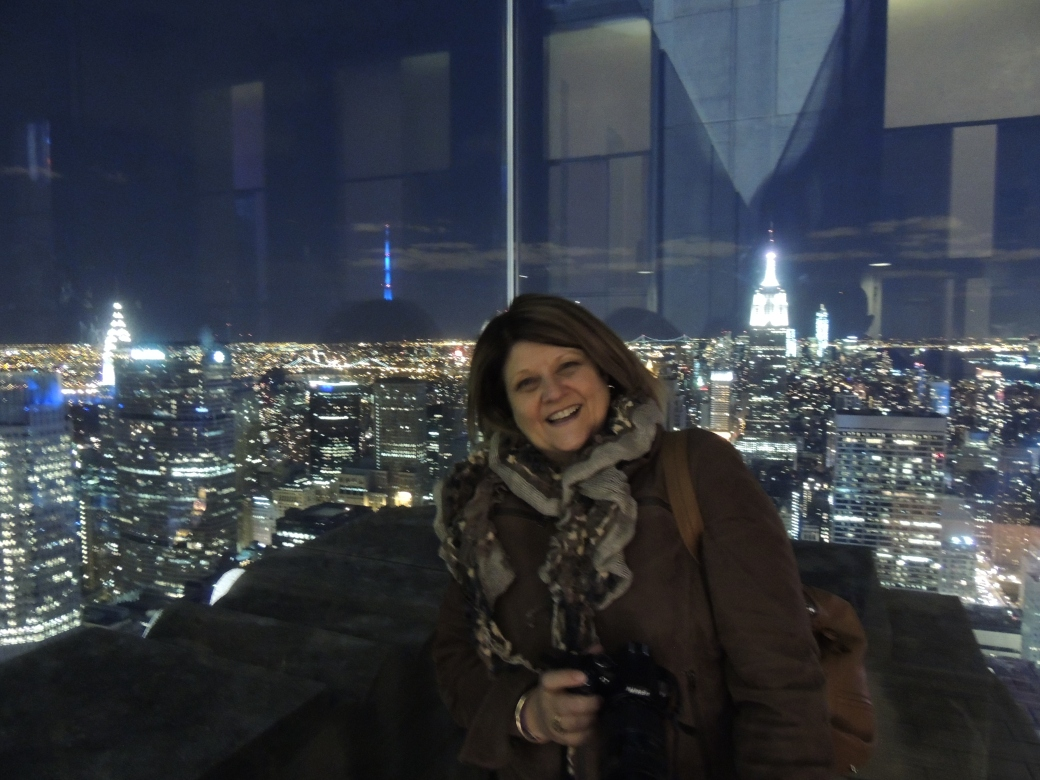 "Lovin' the view from ""Top of the Rock""!"