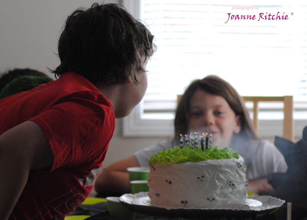 12th Birthday Cake candle time