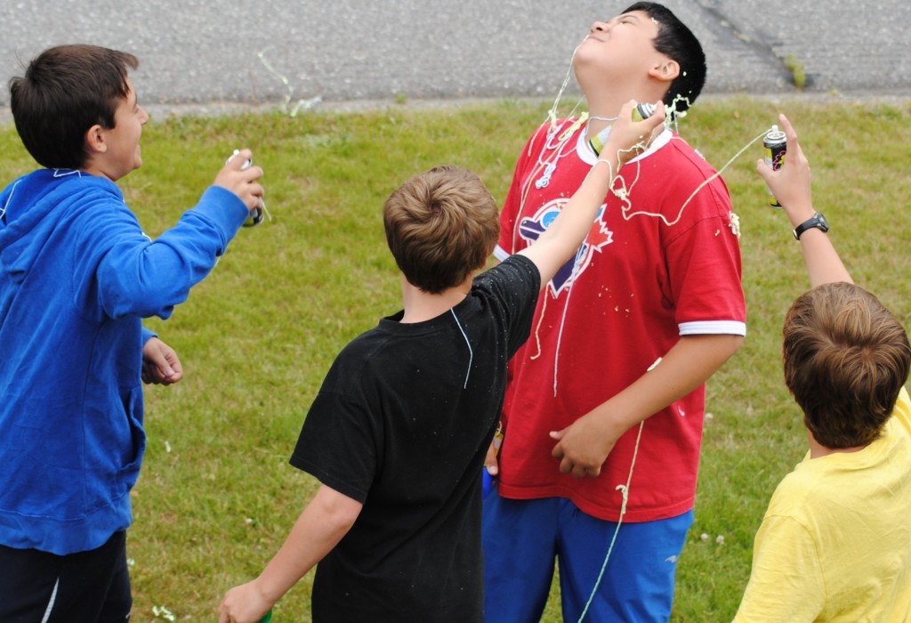 No matter the age, Silly String is always fun!