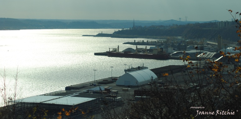 Looking downt the St Lawrence River