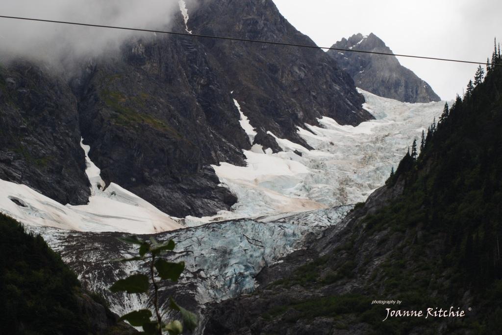 Looking up into Bear Glacier