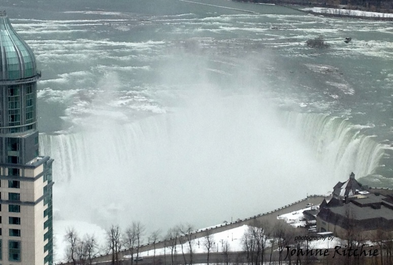 Niagara Falls was right there, just outside our hotel room window!
