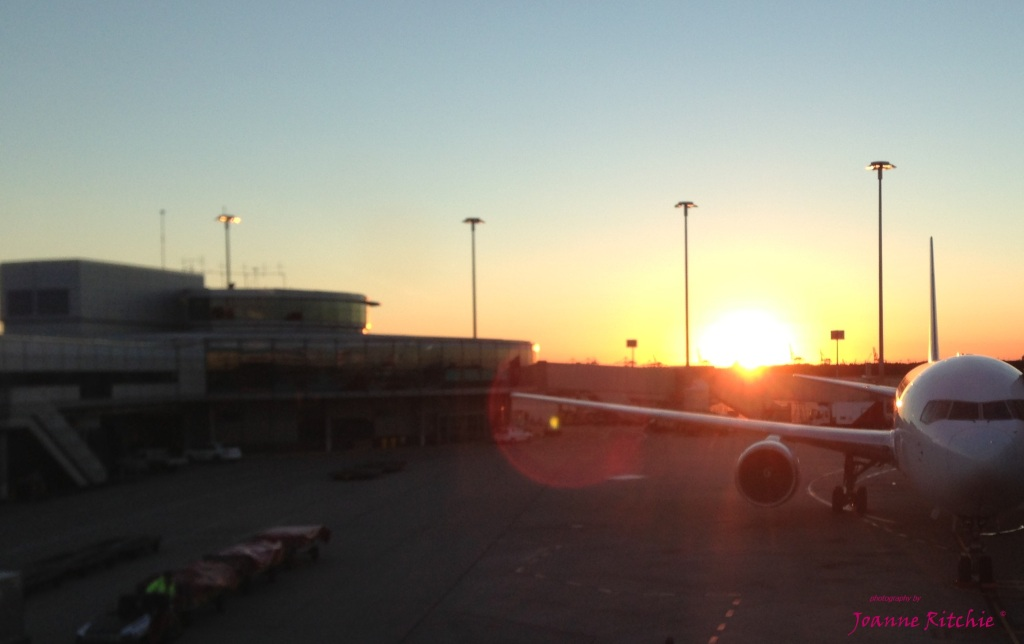 Sunrise over Brisbane Airport