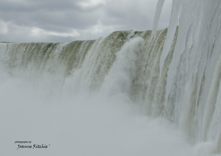 The Falls from BEHIND them!!!