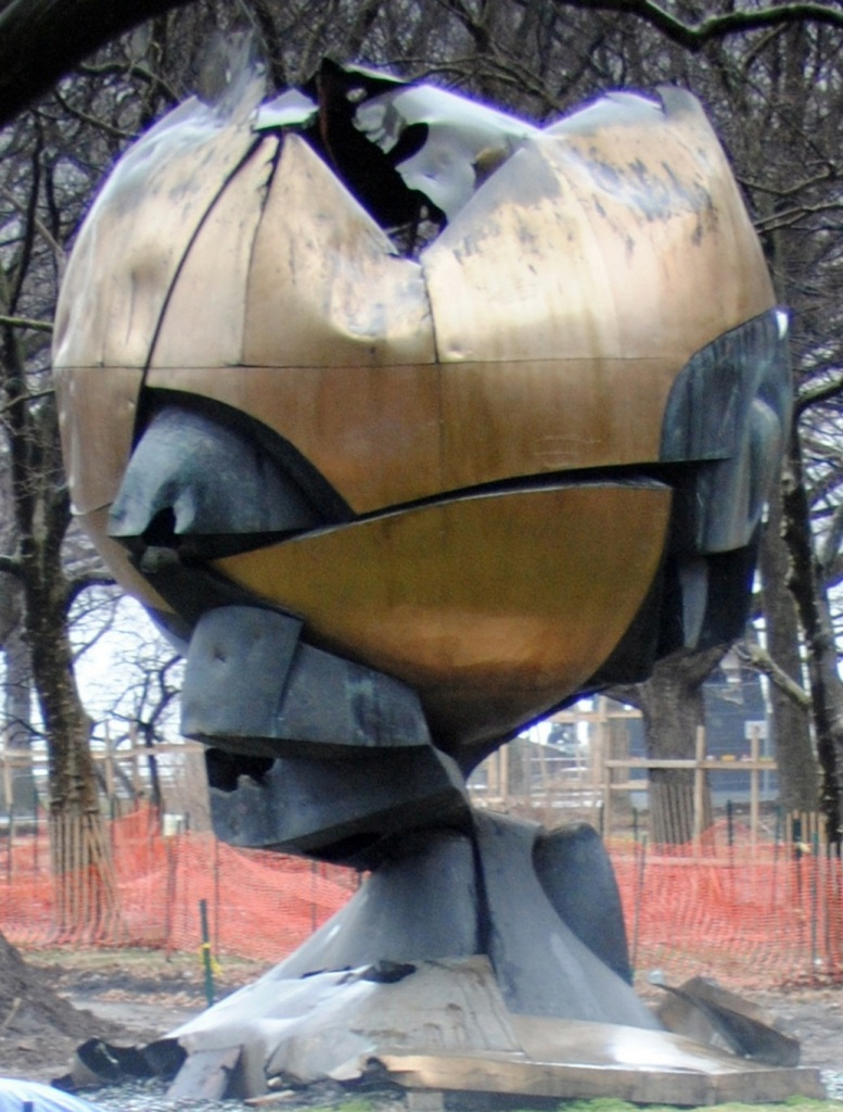 WTC Sphere after the 911 attacks...