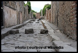 Cobbled Street of Pompeii