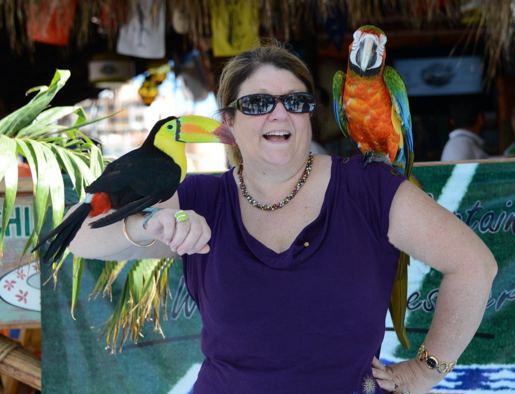 Even Mama played with the birds
