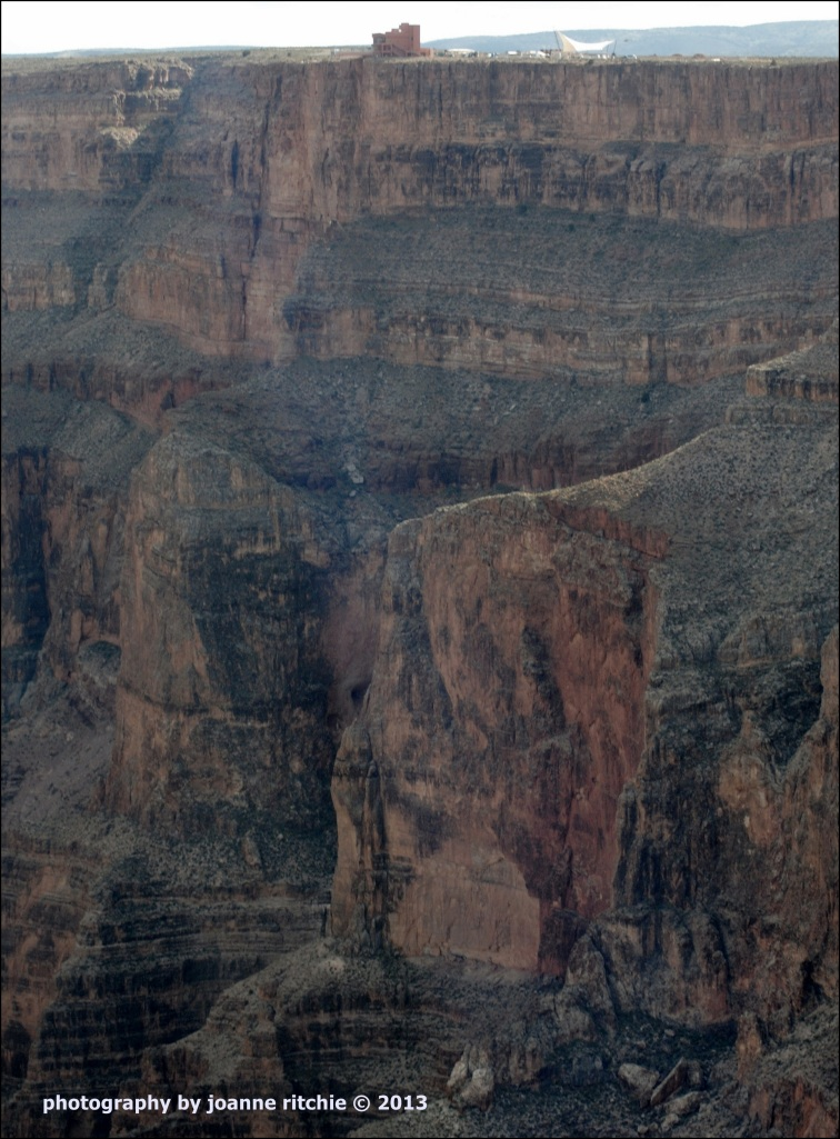 Grand Canyon walkway is a long way up! - C