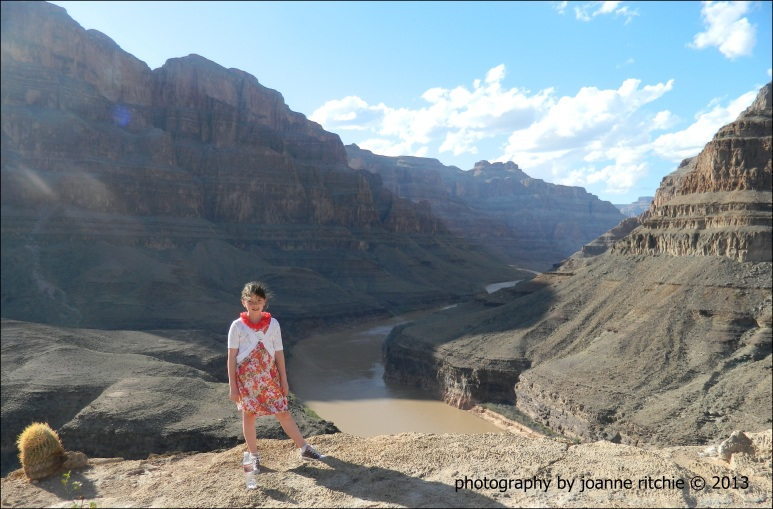 Miss M at the Grand Canyon - C