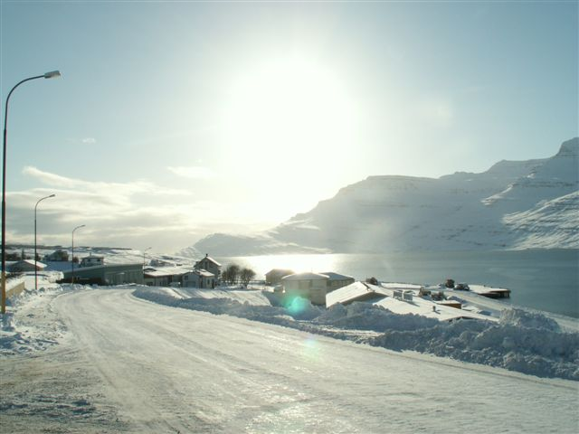Sunshine on Snow in Reydarfjodur