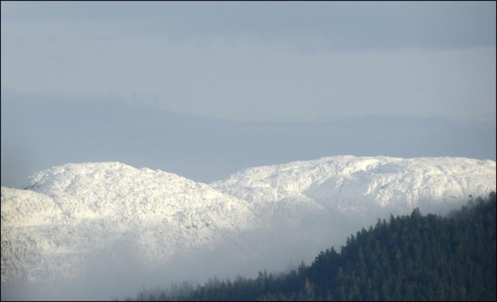 Glowing Snow Mountain Range