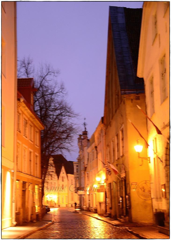 Walking down Pikk Street... OUR street!