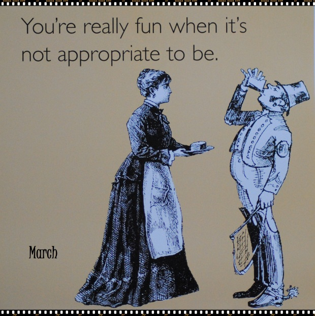 The lost art of being inappropriate!