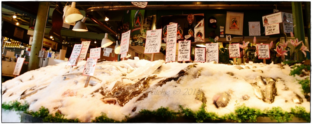 Pike Street Fish Market - organized chaos!