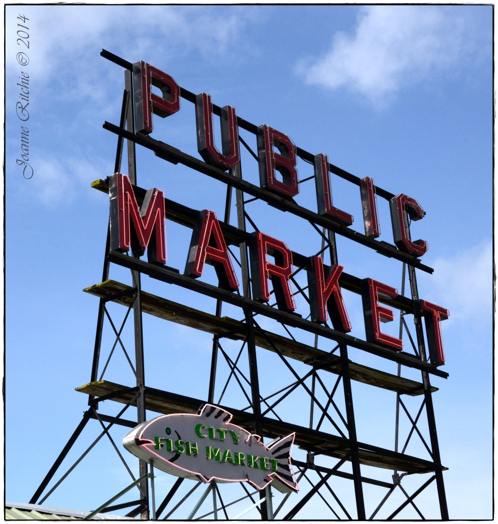 Pike Street Market Sign - so cool!