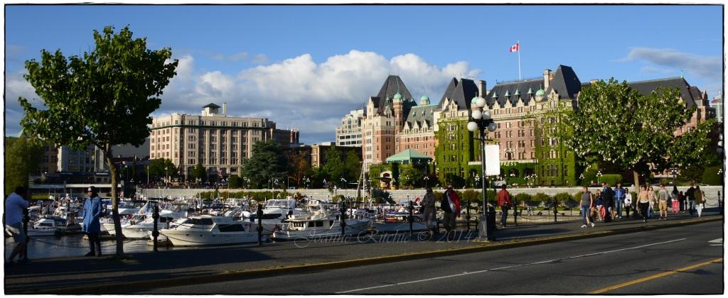 Victoria's Empress overlooking the bay!