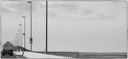 Heading back over Confederation Bridge to New Brunswick